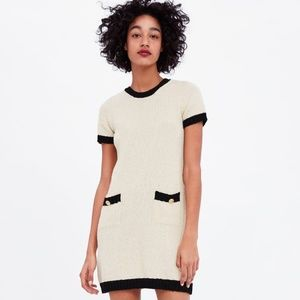 NWOT Zara Size S Colorblock Knit Dress